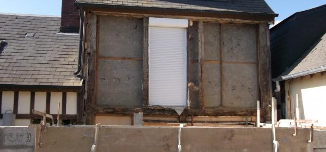 Changement d'une façade en colombage par une ossature bois