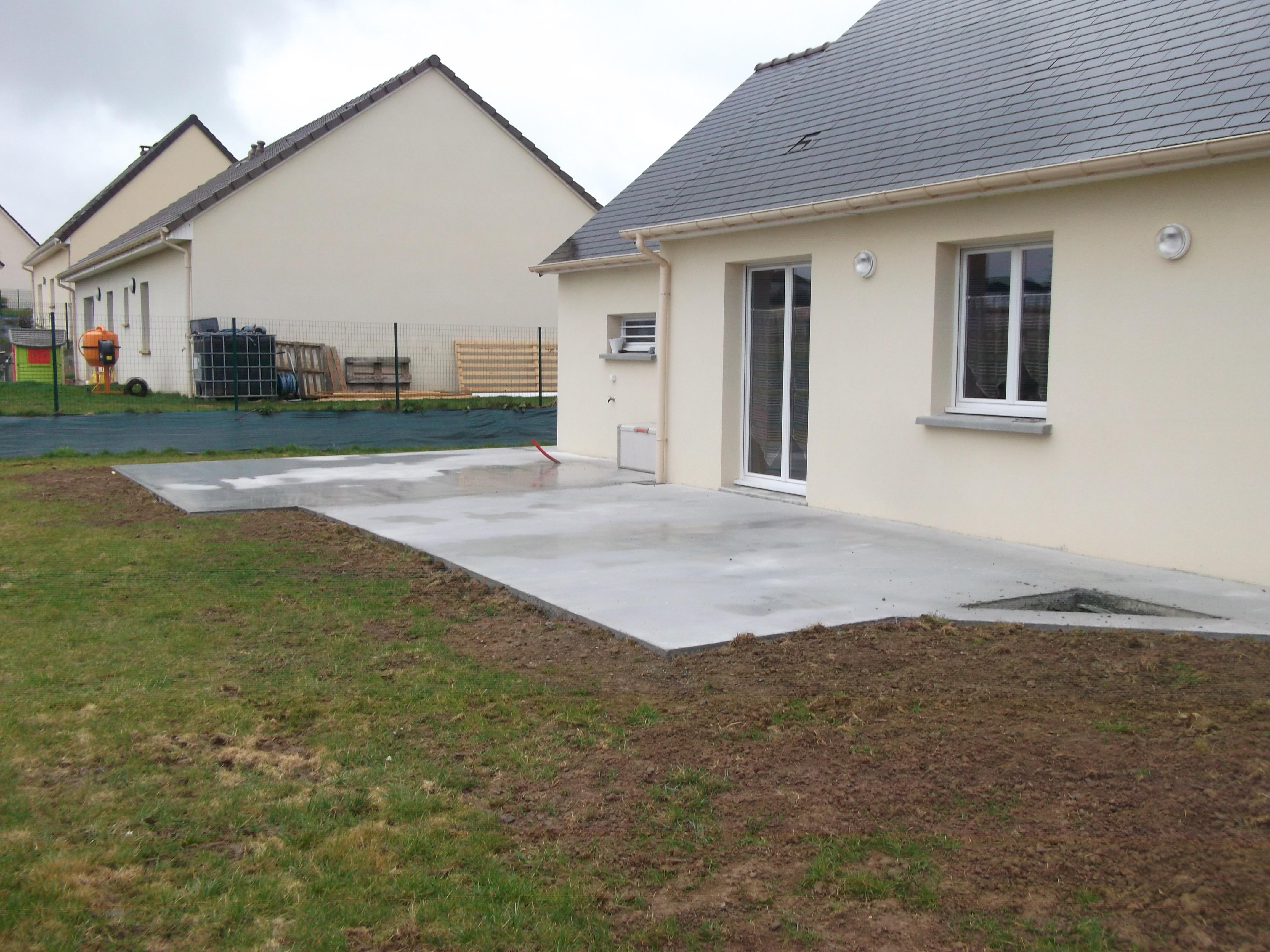 R alisation d une terrasse sarl b ti at2d ma onnerie for Construction d une terrasse en beton